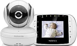 """Motorola MBp 33S - Baby Monitor Video Digitale con Schermo LCD a Colori da 2.8"""", Modo Eco e Visione Notturna, Bianco"""