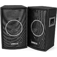 Vonyx Paire d'Enceintes SL6 PA Speakerbox 6 pouces 150 Watts, Enceintes Passives, Public Address, Sonorisation, Messages…