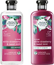 Herbal Essences Bio: Renew White Strawberry and Sweet Mint Shampoo, 400 ml with Herbal Essences Bio: Renew White Strawberry and Sweet Mint Conditioner, 400 ml