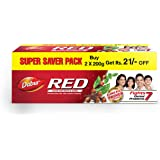 Dabur Red Paste - India's No.1 Ayurvedic Paste , Provides Protection from Plaque , Toothache , Yellow teeth and Bad Breath- 4