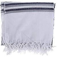 Homescapes Jeté de lit/Jeté de canapé à Rayures de en Pur Coton appartenant à la Collection Stripes