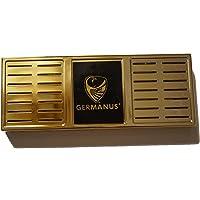 GERMANUS, umidificatore Premium Humidor, misura XL, color oro, incluso supporto magnetico e istruzioni (lingua italiana…