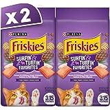 Purina Friskies Surf N Turf Dry Cat Food Bag 1.43kg (2 Bags)