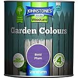Johnstone's - Garden Colours - Exterior Paint - Fade Resisting - Suitable for Exterior Wood - Bold Plum - 1 L