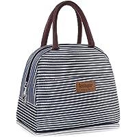 Newox Sac Isotherme Repas Lunch Bag Portable Sac à Déjeuner Strieux en Tissu Imperméable Pliable Sac Pique-Nique pour…
