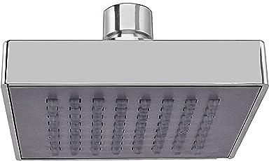 Klaxon Air G0199IT0039 Plastic Shower Head (Silver, Chrome Finish)
