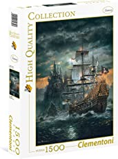 Clementoni 31682.3 - Puzzle High Quality Kollektion - Das Piratenschiff, 1500 Teile