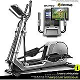 Sportstech LCX800 Vélo elliptique- Marque de qualité Allemande - Vidéo Events et Console Multifonctions multijoueur APP &, Volant d'inertie de 24 kg, 12 programmes d'entraînement + Mode HRC