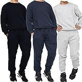 Kids Boys Tracksuit Crew Neck Sweatshirt & Jogging Bottom Boys Plain Round Neck Tracksuit UK Age 5-13 Years