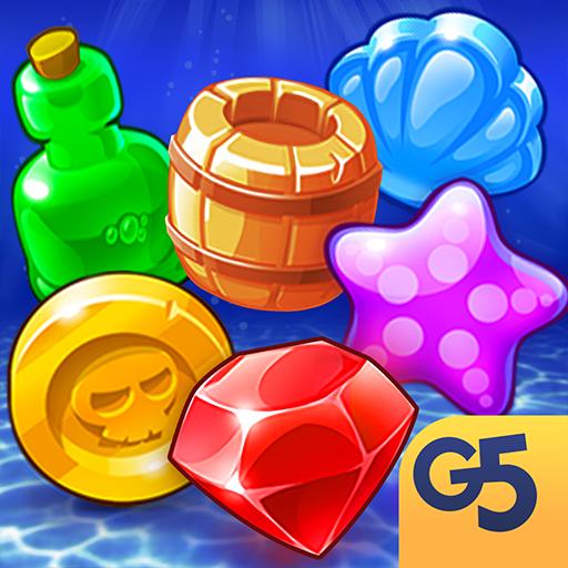 Fishdom Spiele (Pirates & Pearls: Ein Schatz-Kombinations-Rätsel)