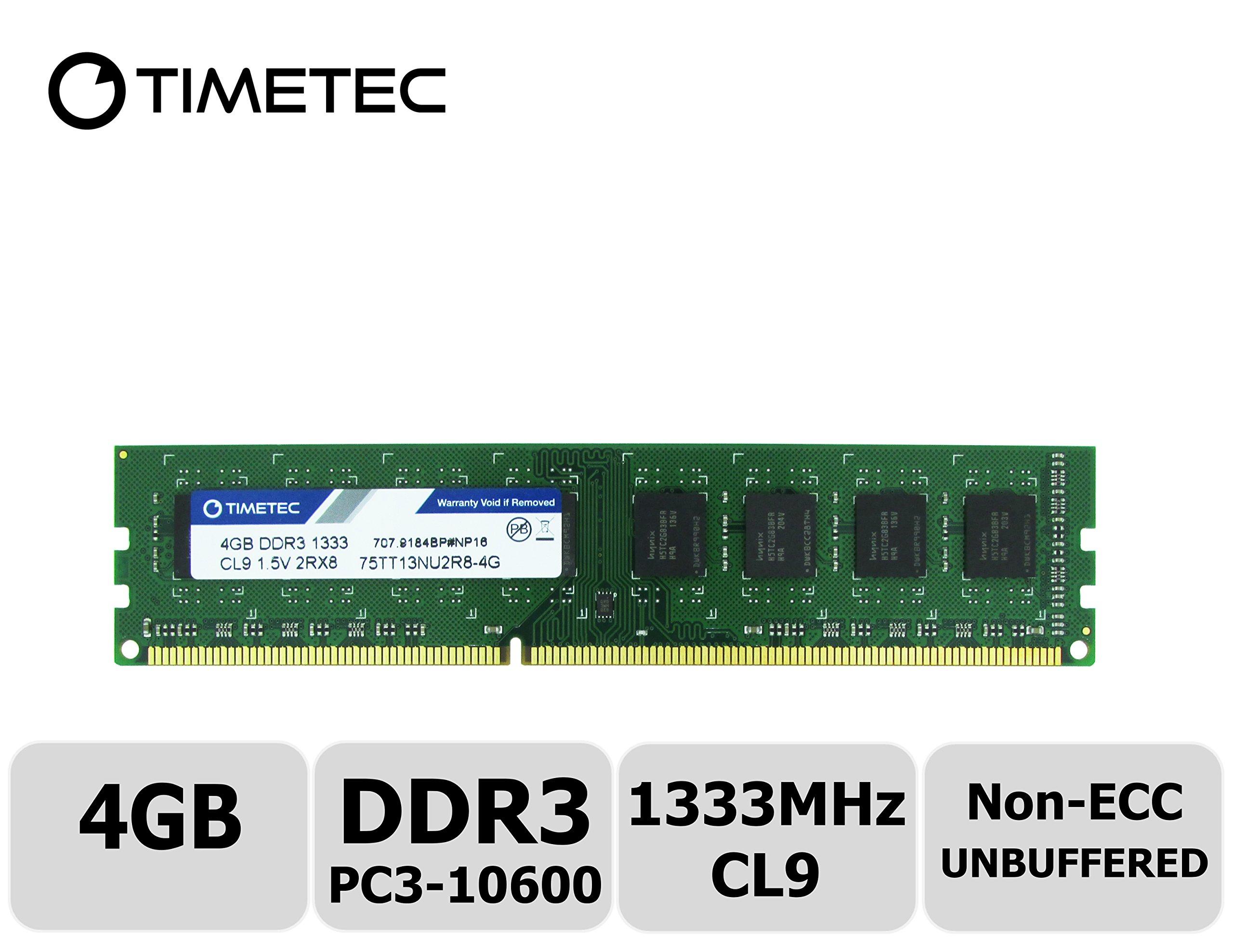 Timetec-Hynix-IC-DDR3-1333MHz-PC3-10600-Unbuffered-Non-ECC-15V-CL9-2Rx8-Dual-Rank-240-Pin-UDIMM-Desktop-Memory-Ram-Module-Upgrade