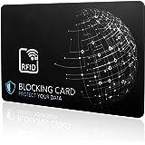 RFID Blocker Karte NFC Schutzkarte - Neueste Störsender-Technologie zum Schutz vor Datendiebstahl - extra dünne Karte mit 0,9mm geeignet für Jede Geldbörse - Kartenschutz | NFC Schutz