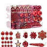 Haigou Lot de 113 boules de Noël à suspendre pour sapin de Noël