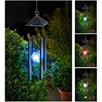 Solalite® Colour Changing Hanging Solar Powered Wind Chime Light Outdoor Garden
