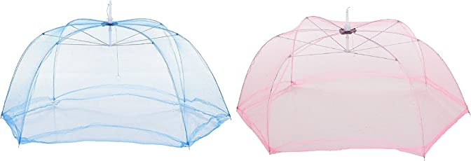 Feathers-Nature's Touch Baby Mosquito Net/ Umbrella, 60x40x40cm (Multicolour)-Pack of 2