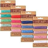16 Couleurs Cordon de Fil Corde de Lin Multicolore, Corde de Ficelle Naturelle pour Bracelets Artisanat Fabrication de Porte-