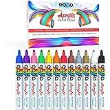 EONO Stylos de peinture acrylique - non toxique, peinture pour pierre, céramique, verre, bois, porcelaine, cailloux, pointe r