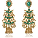 Shining Diva Fashion Traditional Metal Gold Plated and Pearl Jhumki Earrings for Women & Girls
