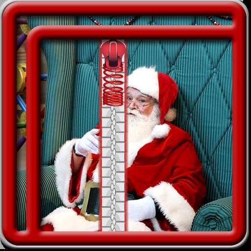 Zipper Lock Screen Weihnachtsmann (Urlaub Nordpol)