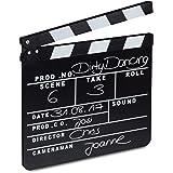 relaxdays, noir Clap de cinéma Hollywood film clapet scène inscription déco HxlxP: 26 x 30 x 30 cm