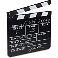 Relaxdays 10021346 Ciak Cinema in Legno, Clapperboard da Regista, Accessori Set Cinematografico, Lavagna HxL: 26 x 30 cm…