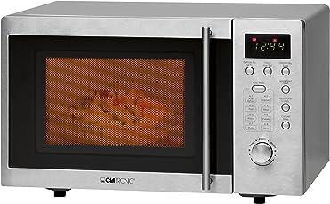 Clatronic MWG 778 U Unterbau-Mikrowelle mit Grill / 20 Liter / 8 Automatikprogramme / 95-Minuten-Timer mit Endsignal / Digitaluhr / Unterbaufähig