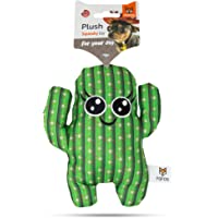 Barkbutler x Fofos Cactus Boy (M) Stuffed Soft Squeaky Plush Dog Toy, Green | For X-Small - Medium Dogs (0-20kgs…