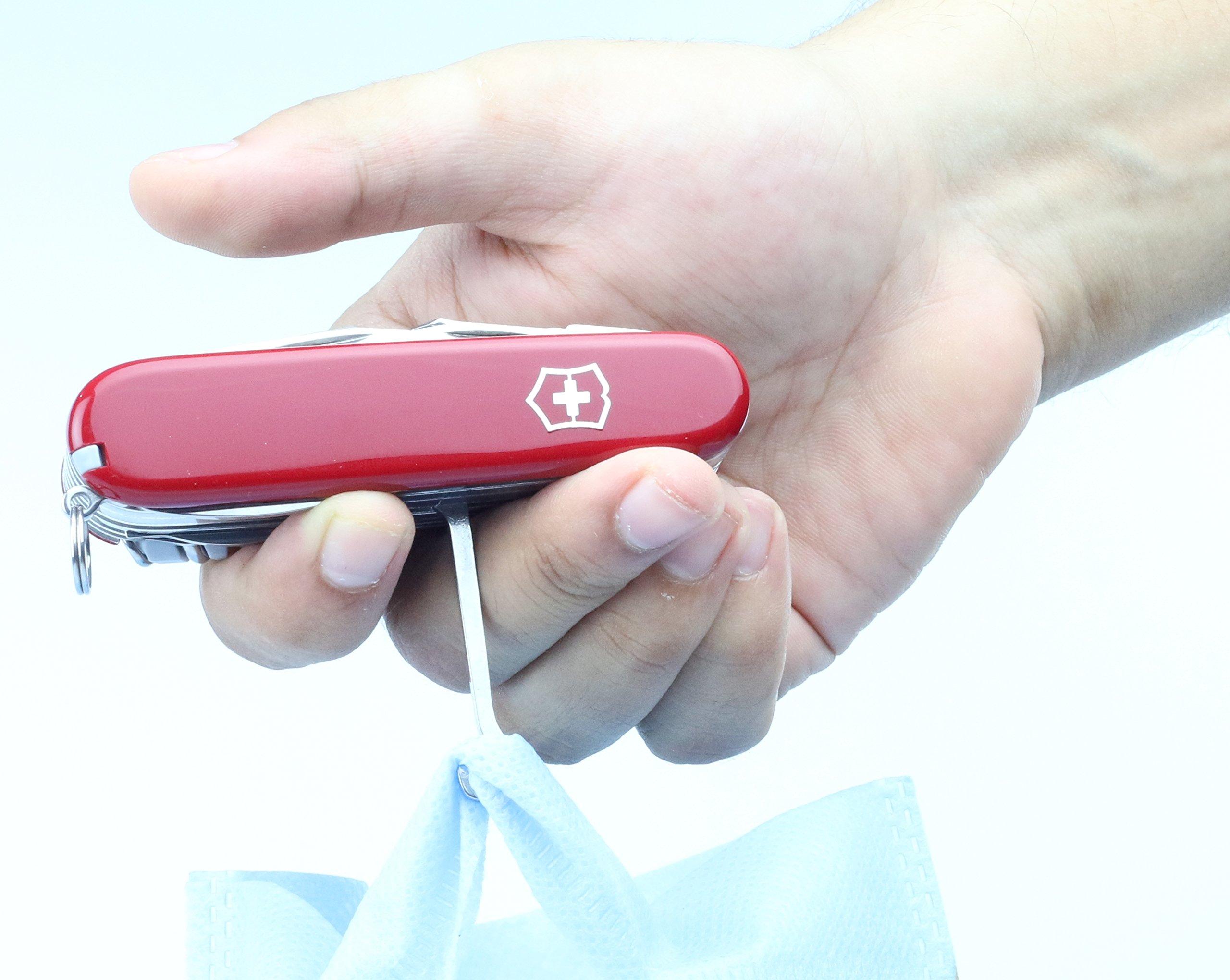 Victorinox Taschenwerkzeug Offiziersmesser Swiss Champ Rot Swisschamp Officer's Knife, Red, 91mm 22