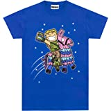 Fortnite Camiseta de Manga Corta para niños - Llama [Azul] [12-13 años]
