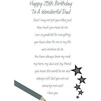 Dad 75th Birthday Card