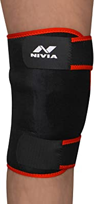Nivia Adjustable Knee Support (Black)