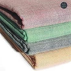 Style Urban Cotton Multicolor Single Blanket(Set Of 2)
