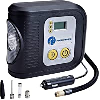 TIREWELL TW-7001 12V Digital Tyre Inflator Auto Cutoff Portable Air Compressor with LED Light and 3 Different Nozzle…