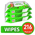 BeyBee Cucumber and Aloe Vera Baby Wet Wipes Combo Offer (72 Wipes, Pack of 3)