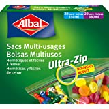 Albal 40 Sacs Multi-Usages, Fermeture Ultra-Zip, Hermétique, 20 x 150 ml, 20 x 380 ml