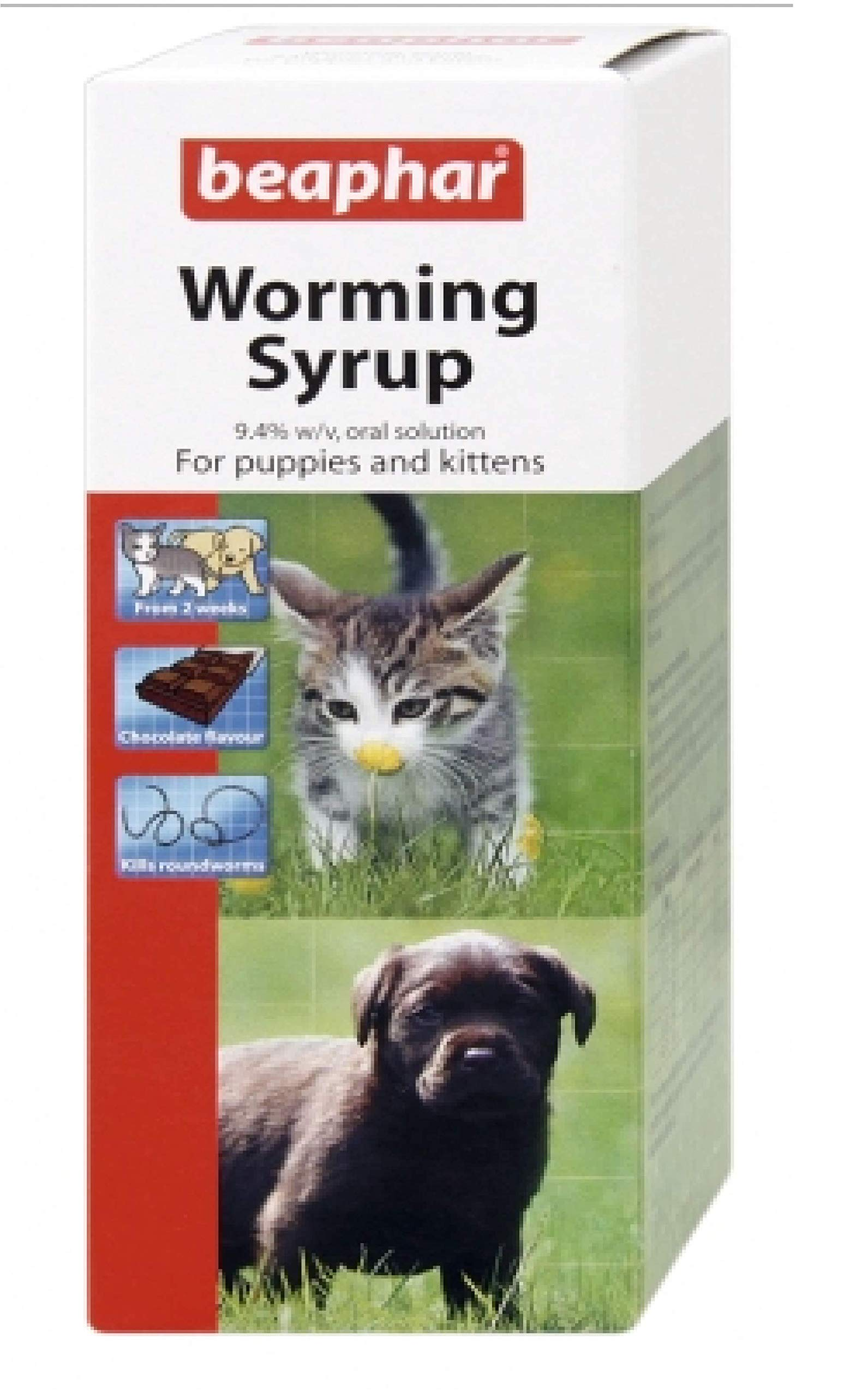 Leeway Beaphar – WORMING SYRUP – ROUNDWORM -KITTENS/PUPPIES – 45ml x1