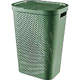CURVER   Coffre à linge 60L Infinity , Vert, 43,7 x 35,1 x 60,2 cm, Plastique recyclé