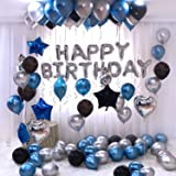 WoW Party Studio Happy Birthday Foil Balloon, Pack Of 30, Black