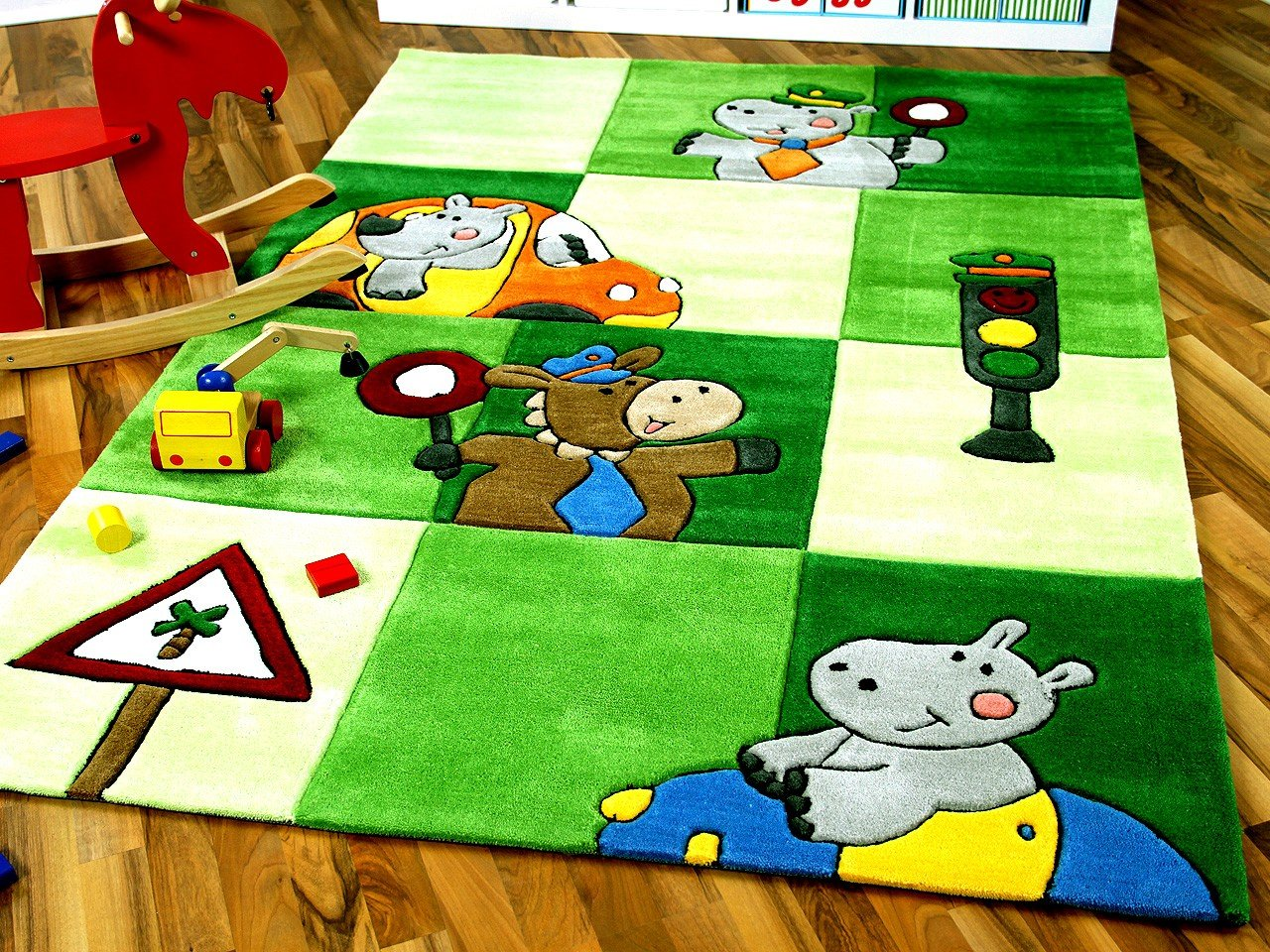Amazon.de: Lifestyle Kinderteppich Ampel Grün in 3 Größen ...