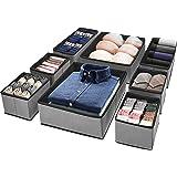 Puricon 8 Boîtes de Rangement Ouvertes pour Etagère Armoire et Placard, Paniers de Rangement Pliables en Tissu pour Jouets, L