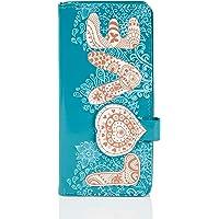 Shagwear portafoglio per giovani donne, Large Purse : (amore turchese/Vintage Love Pattern)