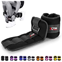 YNR 2PCS Ankle Straps for Cable Machines Weightlifting Gym Workout Fitness Double D-Ring Neoprene Padded Ankle Cuffs for Legs Abs and Glute Exercises with Carry Bag Fits Men/&Women