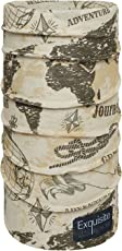 Noise NOIHWPEX128 Polyester Vintage World Map Exquisite Bandana, Adult (Multicolor)