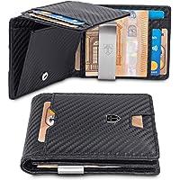 TRAVANDO Portafoglio uomo sottile con Clip per Contanti BRISBANE Protezione RFID Porta carte di credito Portafogli Porta…