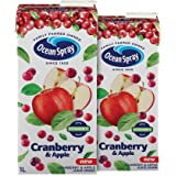 Ocean Spray Cranberry & Apple Juice with 20% Cranberry 1 Liter ( Pack of 2 )