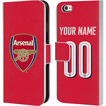 innovative design 63d22 9a620 Custom Customised Personalised Arsenal FC Home 2017/18 Leather Book Wallet  Case Cover For iPhone 6 / iPhone 6s
