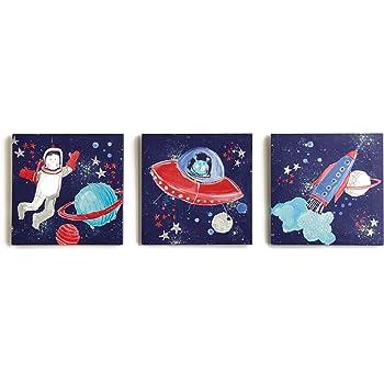 Arthouse, Starship Set of Three Wall Canvas