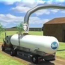 Camión de transporte: suministro de leche