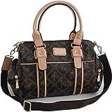Damentasche von Giulia Pieralli - Damen GlamourHandtasche Handbag Tasche Henkeltasche Bowling Tasche Umhängetasche (Coffee-Be
