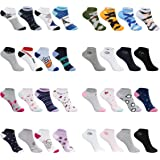 SG-WEAR 12 pares de calcetines sneaker socks deportivos para niños y niñas. Calcetines cortos para niños con un alto porcenta
